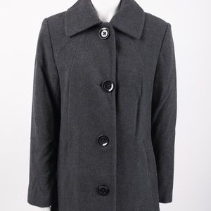 Nautica Women's Long Trench Coat Jacket Wool Small